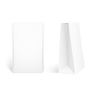 Caja de comida maqueta conjunto aislado en blanco