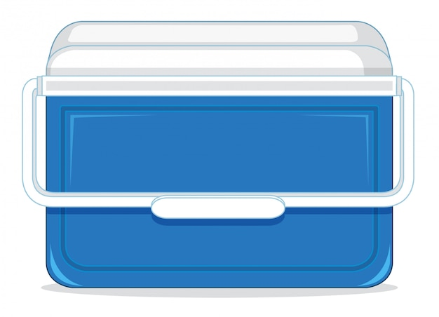 Una caja de contenedores de hielo.