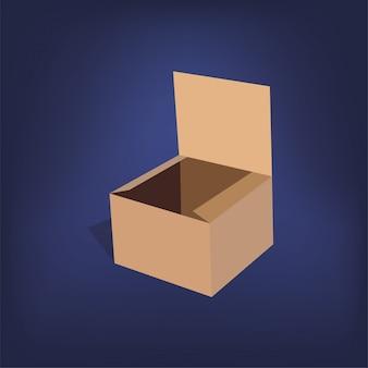 Caja de cartón realista