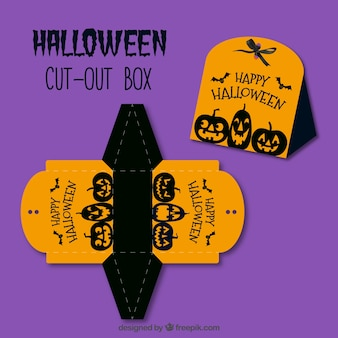 Caja decorativa de halloween