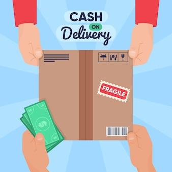 Caja y dinero contra reembolso