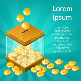 Caja de dinero con dinero.