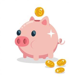Caja de dinero en forma de un cerdo