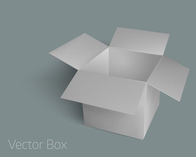 Caja de embalaje abierta