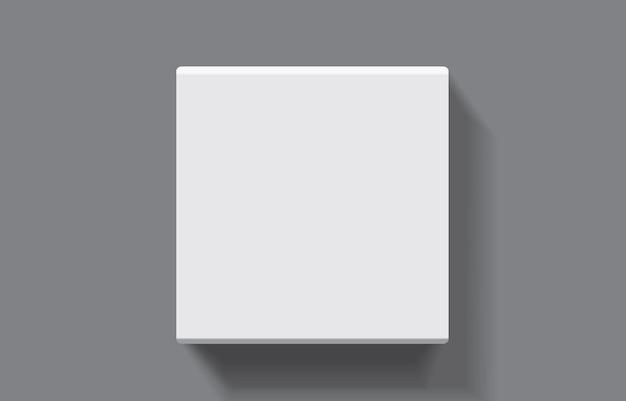 Caja de embalaje cuadrada de papel de vector