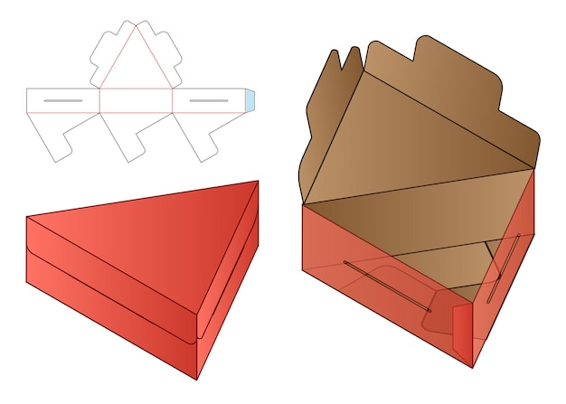 Caja de embalaje diseño de plantilla troquelada maqueta 3d