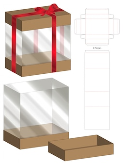 Caja de embalaje plantilla troquelada para impresión