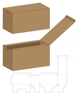 Caja de embalaje plantilla troquelada
