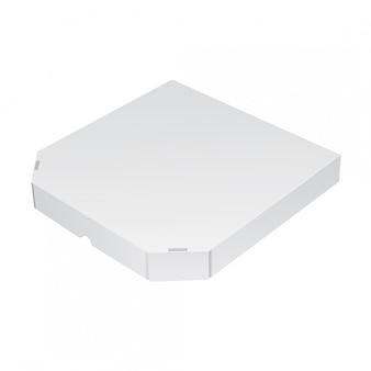 Caja de embalaje realista para pizza. ilustración