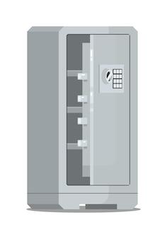 Caja fuerte de almacenamiento de dinero metálico abierto con cerradura digital aislado
