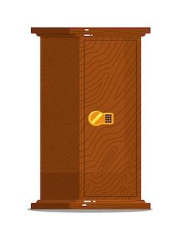 Caja fuerte de madera para guardar dinero con cerradura digital