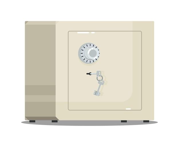 Caja fuerte de metal con cerradura de combinación y llaves