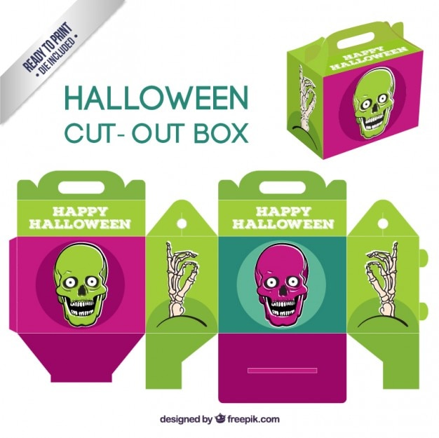Caja de halloween recortable