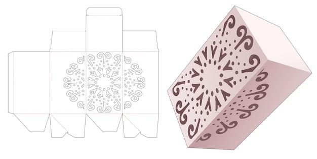 Caja inferior de bloqueo automático con plantilla troquelada de plantilla mandala