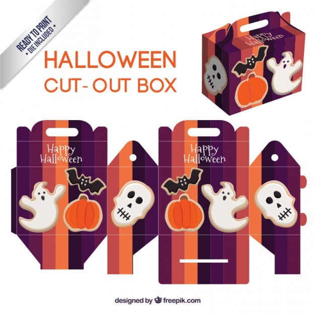 Caja linda recortable de halloween