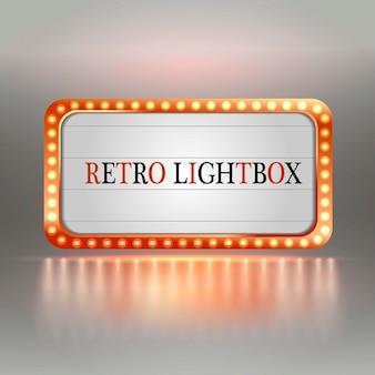 Caja de luz retro.