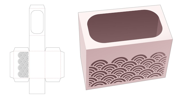 Caja de papelería con plantilla troquelada de onda estarcida