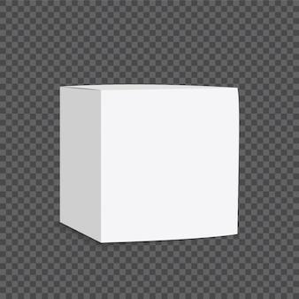 Caja de paquete de cartón de producto blanco