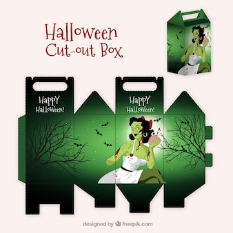 Caja recortable de halloween