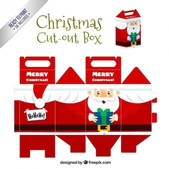 Caja recortable navideña de santa claus