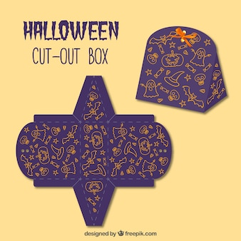Caja recortable ornamental de halloween