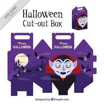 Caja recortable de vampiro