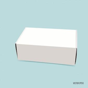 Caja rectangular en blanco