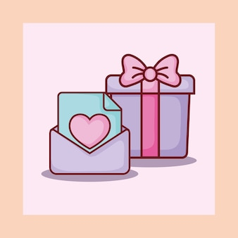Caja de regalo correo electrónico carta amor citas en línea