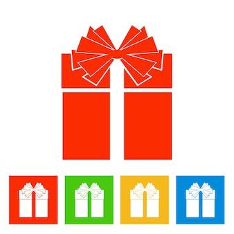 Caja de regalo. icono de año nuevo. ilustración vectorial