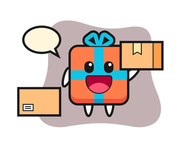Caja de regalo de mascota como mensajero