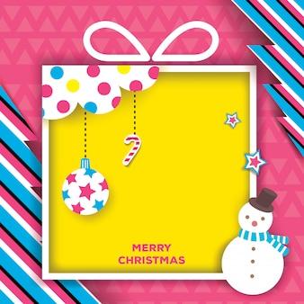 Caja de regalo de navidad-rosa