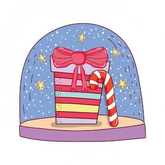 Caja de regalo presente con caña