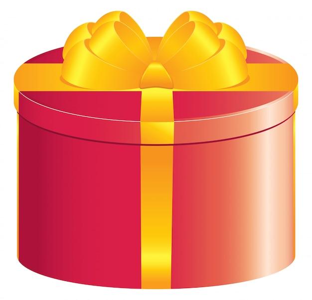 Caja de regalo redonda roja