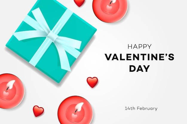 Caja de regalo de venta de feliz día de san valentín