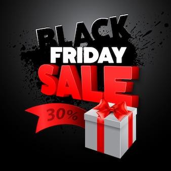 Caja de regalo del viernes negro