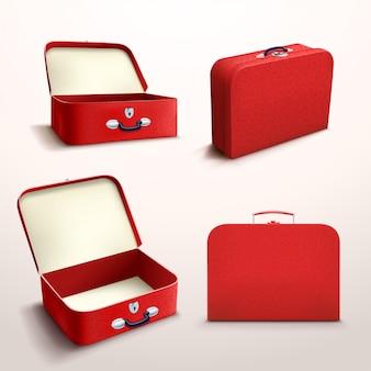 Caja roja sobre blanco