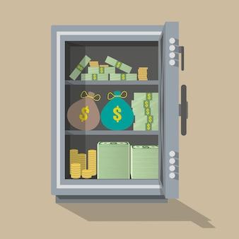 Caja de seguridad abierta
