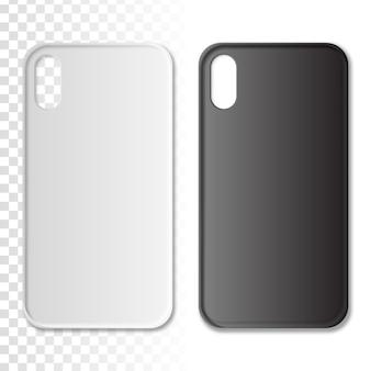 Caja del teléfono en color blanco y negro