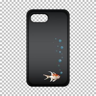 Caja del teléfono móvil con lindo pez