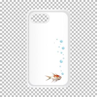 Caja del teléfono móvil con pescado