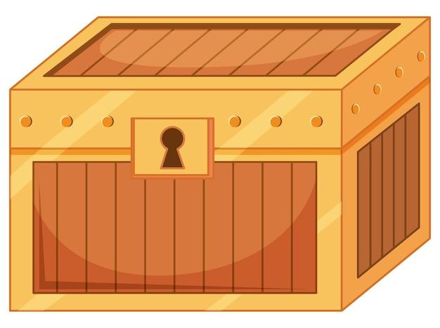 Caja del tesoro cerrada aislada