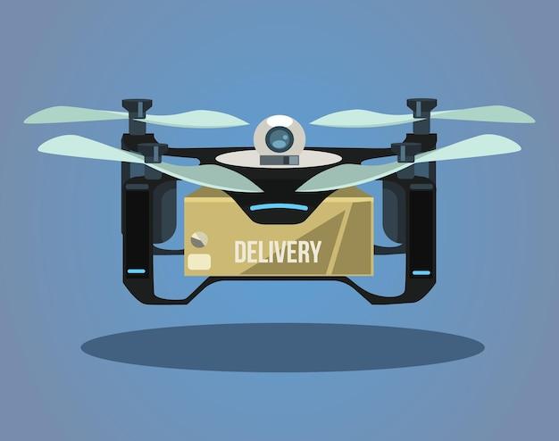 Caja de toma de drones de entrega.