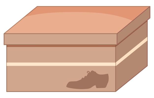 Caja de zapatos aislado en blanco