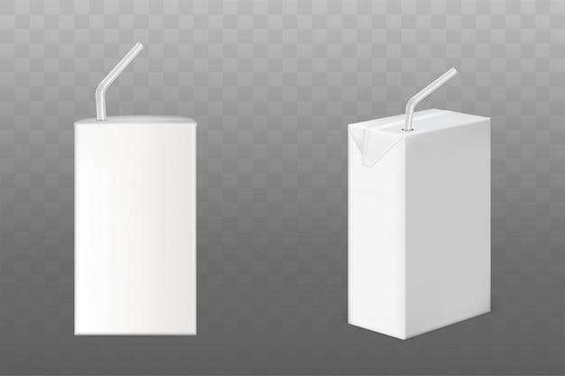Cajas de bebidas con pajita