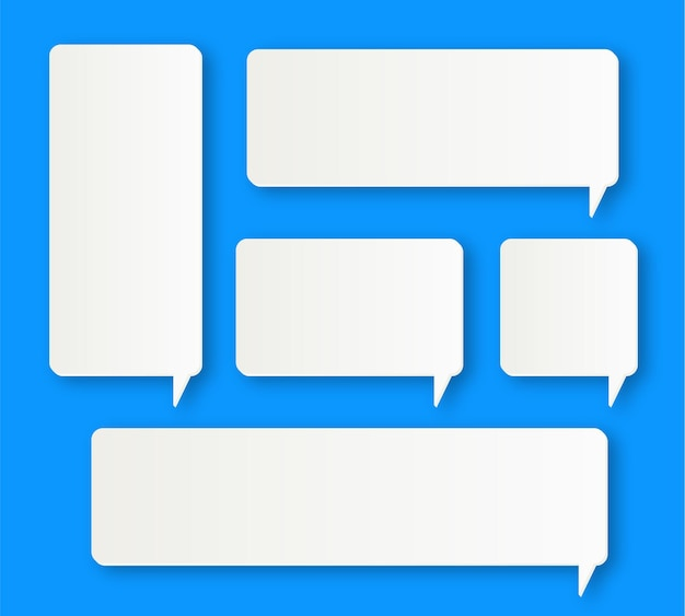 Cajas de burbujas de discurso de comunicación