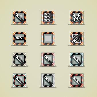 Cajas de hierro para juegos.