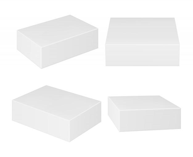 Cajas rectangulares de cartón