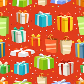 Cajas de regalo de diferentes colores
