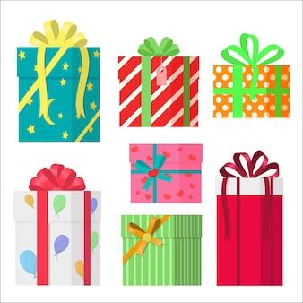 Cajas de regalo envueltas coloridas