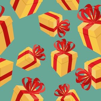 Cajas de regalo de patrones sin fisuras para vacaciones: cumpleaños, navidad